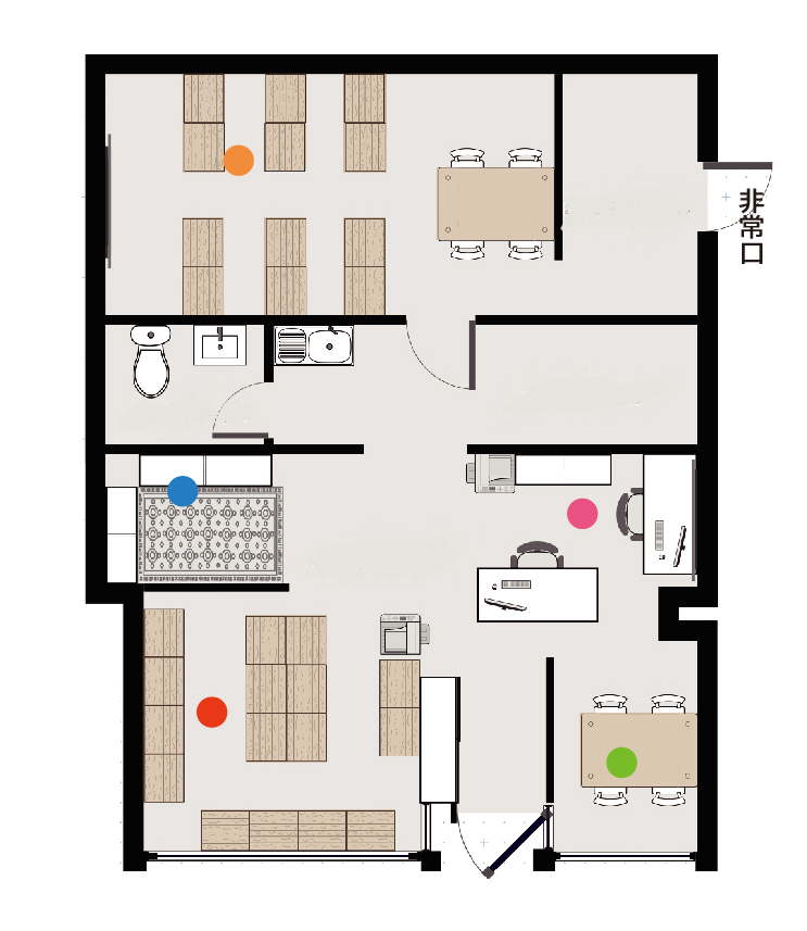HIFIVE(ハイファイブ)教室の間取り図